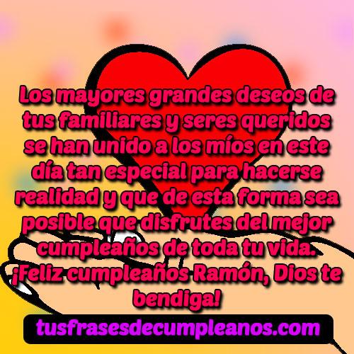 Feliz Cumpleaños Ramón Frases