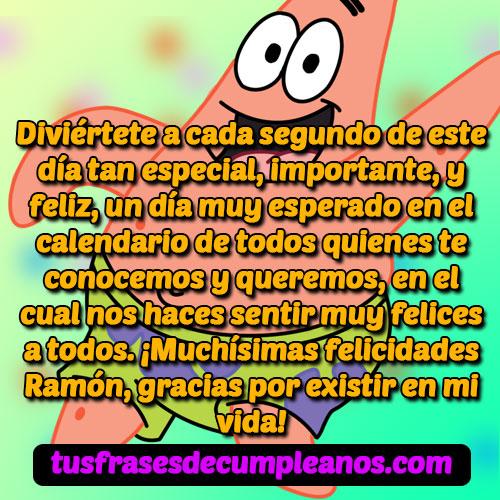 Feliz Cumpleaños Ramón Mensajes