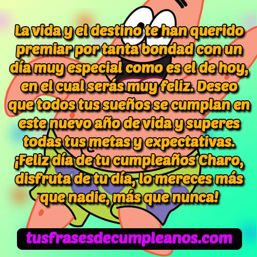 Feliz cumpleaños Charo