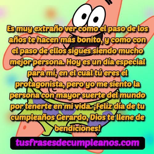 Feliz cumpleaños Gerardo
